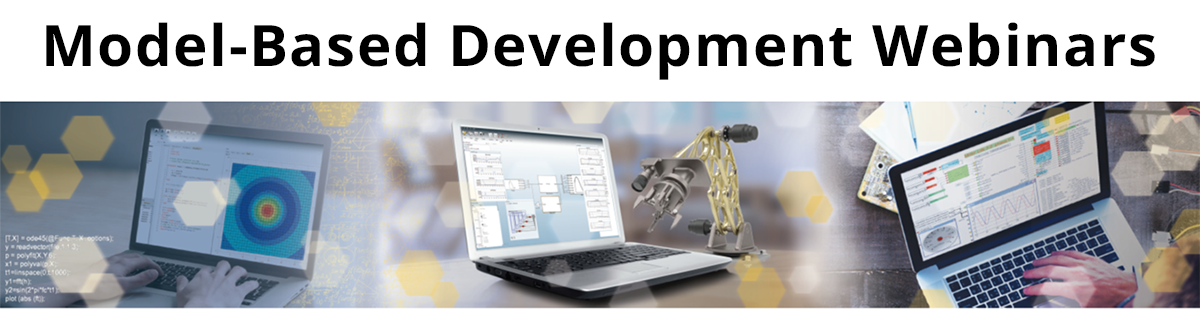 Model-Based Development Webinars Banner